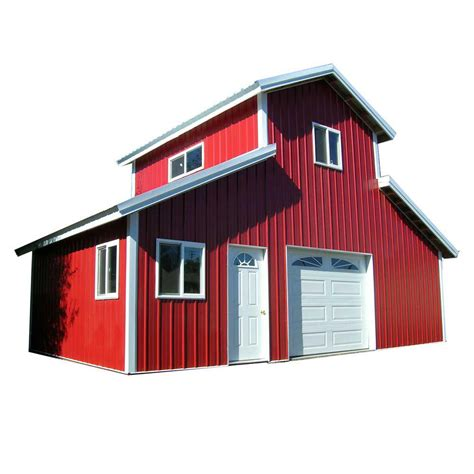 Home Depot Pole Barn Kits by Best Barns 12 Ft X 20 Ft Wood Garage Kit With