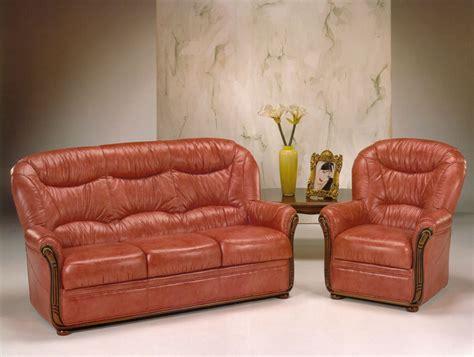 ensemble canape canapé 3 places et fauteuil en cuir vieilli photo 9 10