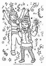 Coloring Confetti Designlooter Celebrate sketch template