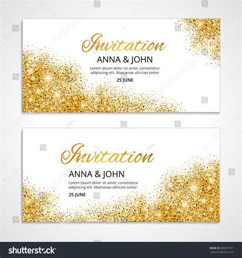 Gold Wedding Glitter Invitation Weddings Background Stock