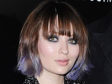 Emily Brownings Purple Dip Dyed Tips Cool Cool Cool