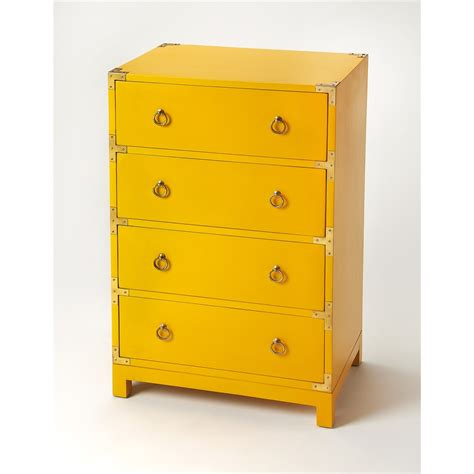 4 drawer dresser chest wood grain bedroom furniture ardennes yellow caign accent chest yellow