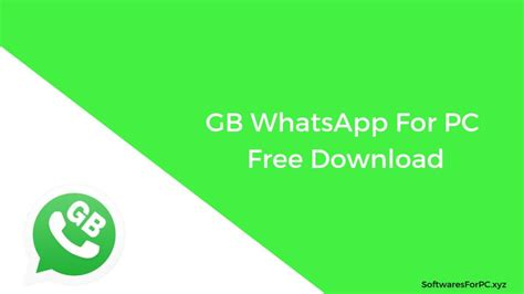 gb whatsapp for pc free version windows 7 8 10
