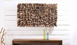 Decoration Murale Design : dcoration murale design en bois format rectangulaire bois de teck ~ Teatrodelosmanantiales.com Idées de Décoration
