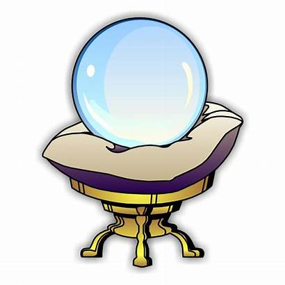 Crystal Ball Clipart Clip Pages Colouring Magic