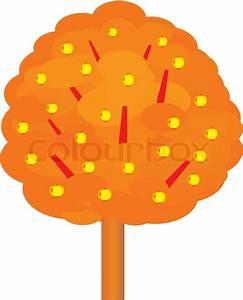 Golden Apple Tree Vector Illustration