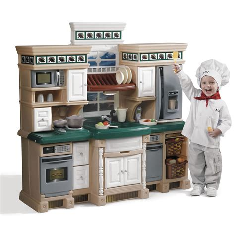 kitchen for toddlers lifestyle deluxe kitchen play kitchen step2