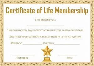 free life membership certificate templates free With life membership certificate templates