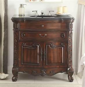 36quot solid wood classic style madison bathroom sink vanity for Classic vanities bathrooms