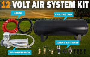 New 12 Volt 9 L Air Compressor Tank Kit Airbag Tyre