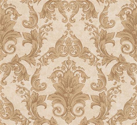 versace ii classic damask wall paper yellow brown metallic
