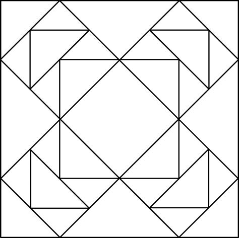 geometric block pattern  clipart