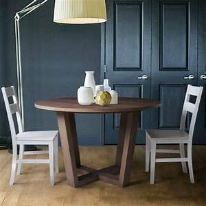Table Pied Croisé : table de salle manger ronde pieds crois s brin d 39 ouest ~ Teatrodelosmanantiales.com Idées de Décoration