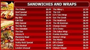 menu board template breakfast menu board template fast With sandwich shop menu template
