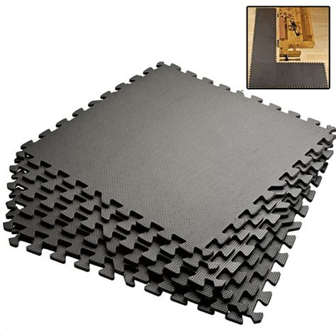 gray 128 sqft exercise play foam floor flooring mat