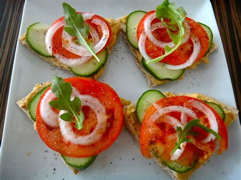canape appetizer hummus canapés healthy whole