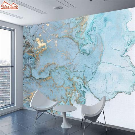 brick marble pattern wallpaper  murals  living room