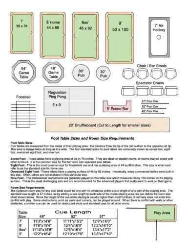 standard bar pool table size bar pool table size sosfund