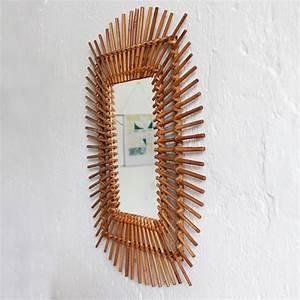 Petit Miroir Rotin : miroir rotin vintage b e613 atelier du petit parc ~ Melissatoandfro.com Idées de Décoration