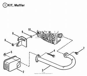 Snapper 300810be 30 U0026quot  8 Hp Rear Engine Rider Series 10 Parts Diagram For Exhaust Muffler  U0026 Engines