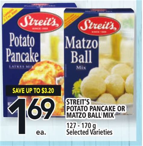 Mashed potato keeps these potato pancakes soft in the middle, but crisp on the outside. Streit's Potato Pancake Or Matzo Ball on sale | Salewhale.ca