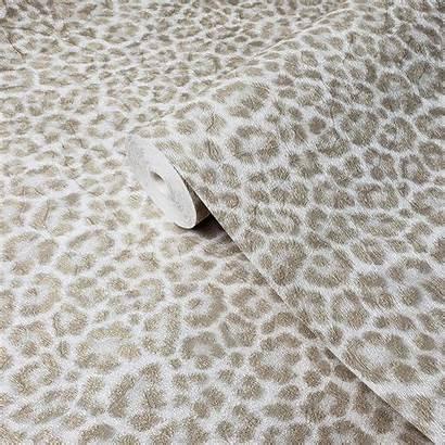 Fur Leopard Animal Skin Cheetah Metallic Ivory