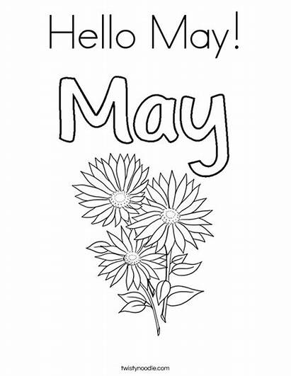 Coloring Hello Pages Month Twistynoodle Months Login