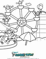 Ferris Wheel Coloring Summer Pages Fun Point Printable Cedar Sunny Weather Scribble Designlooter Town Getcolorings Drawings sketch template