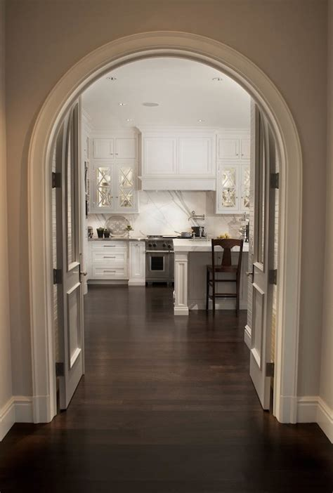 curved crown molding transitional kitchen caden