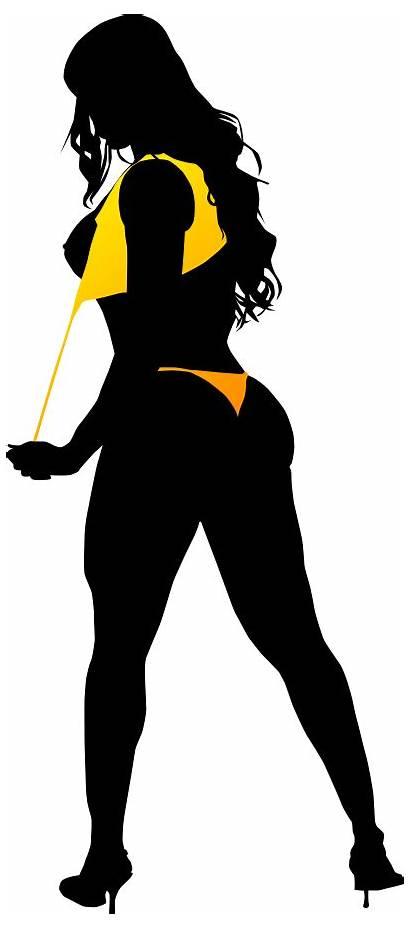 Silhouette Bikini Clipart Transparent Woman Ladder Painter