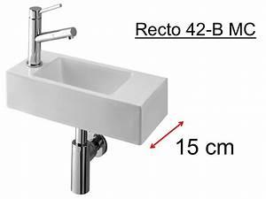 Lave Main 15 Cm Profondeur : lave mains tr s fin 15 cm de largeur design pur en ~ Melissatoandfro.com Idées de Décoration