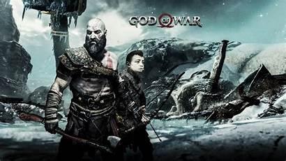 God War Kratos Atreus Wallpapers 4k Games