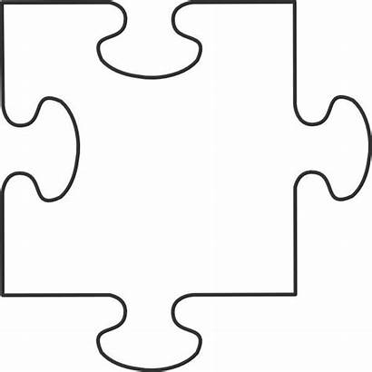 Puzzle Piece Template Printable Blank Clipart Crafts