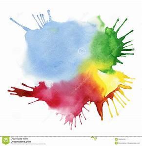 Tache De Couleur Peinture Fond Blanc : tache abstraite d 39 aquarelle de couleur image stock image 33305979 ~ Melissatoandfro.com Idées de Décoration