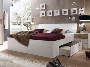 Bett 1 De Kontakt : milena komplett schlafzimmer wei eiche sonoma ~ Eleganceandgraceweddings.com Haus und Dekorationen