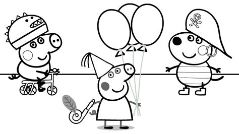 peppa pig swimming coloring pages coloring pages