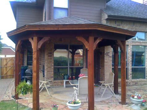 gazebo type patio cover in mckinney tx hundt patio