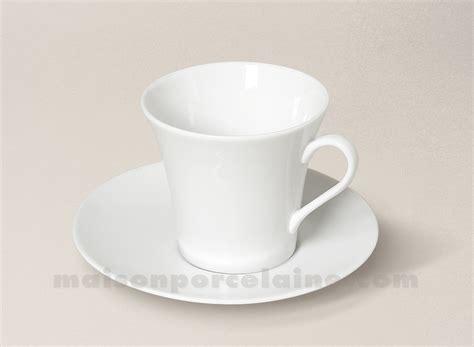 la maison de la porcelaine tasse the soucoupe porcelaine blanche kosmos 8 5x8 20cl maison de la porcelaine