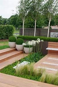 Sculpture De Jardin Contemporaine : un jardin contemporain tout en sobri t les plus beaux jardins ~ Carolinahurricanesstore.com Idées de Décoration