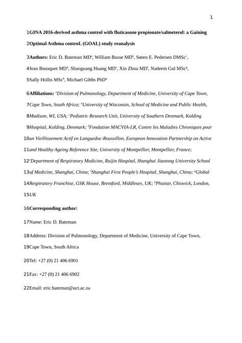 (PDF) GINA 2016-derived asthma control with fluticasone