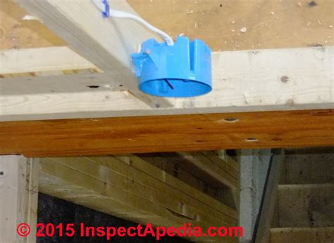how to install a ceiling fan box without attic access electrical box types sizes for receptacles when wiring