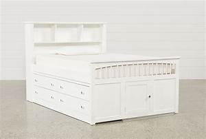 Bayfront Full Captains Bed W/Single 4-Drawer Unit - Living
