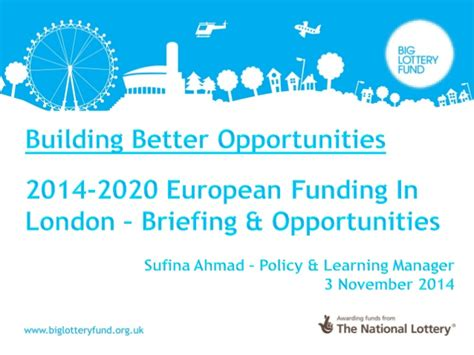 erdf si鑒e social sufina ahmad big lottery fund building better opportunities presen