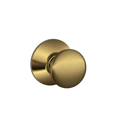 schlage plymouth antique brass and closet knob f10