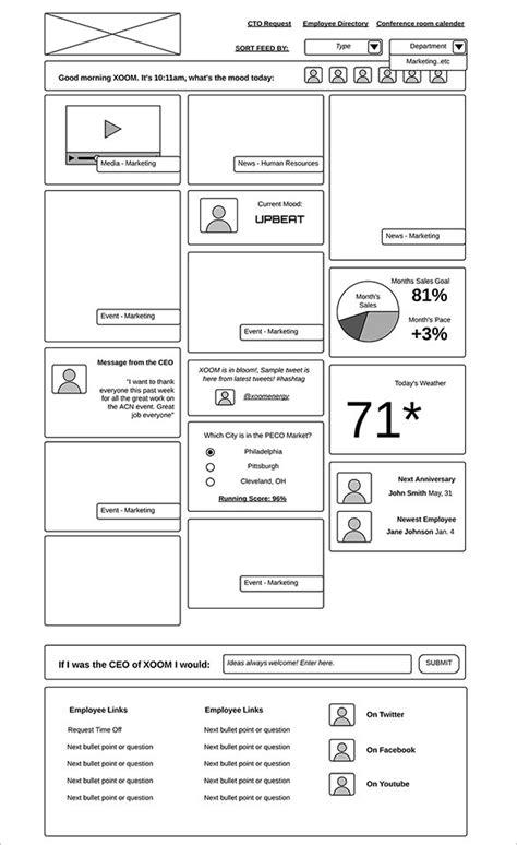 wireframe template 50 website app wireframe exles xdesigns