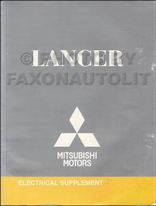 2009 Mitsubishi Lancer Wiring Diagram Manual Original