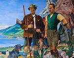 Mural at Schloß Ringberg: Duke Luitpold in Bavaria and Fri ...