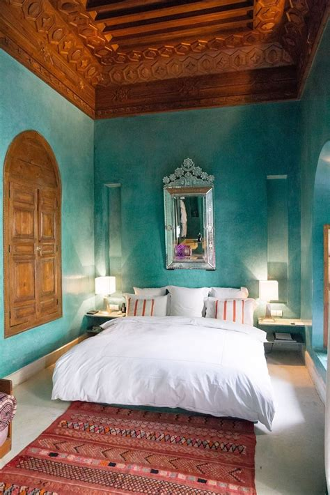 stunning traditional moroccan riad bedroom  dramatic