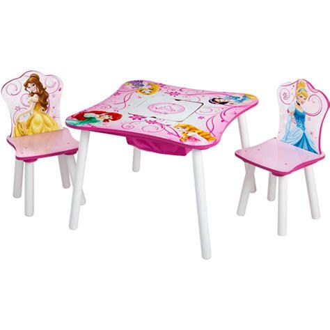 disney princess table and chairs disney princess storage table and chairs set walmart com