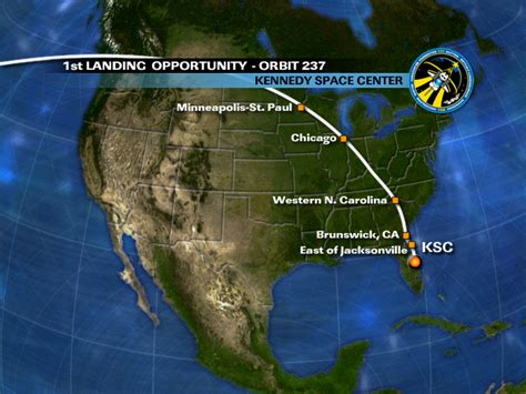 orbit 237 chance for space shuttle sighting chicago